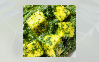 Saag-Aloo-Paneer (Kale-Potato-Paneer Curry)