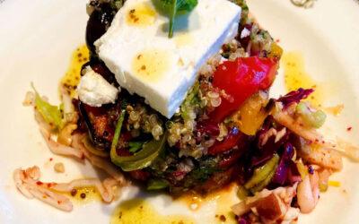 Warm Amaranth, Quinoa and Roast Veggie Salad