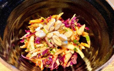 Asian Slaw Salad with Lime & Ginger Dressing